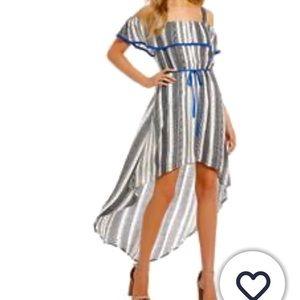 NWT As U Wish Striped High Low Dress Size Small